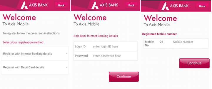 Axis Bank Mobile Banking App for Android Review, Problems