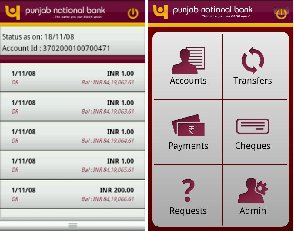 Punjab National Bank App for Android - Review, Features and Problems