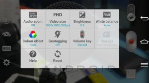 LG G Pro 2 Camera App Video Settings