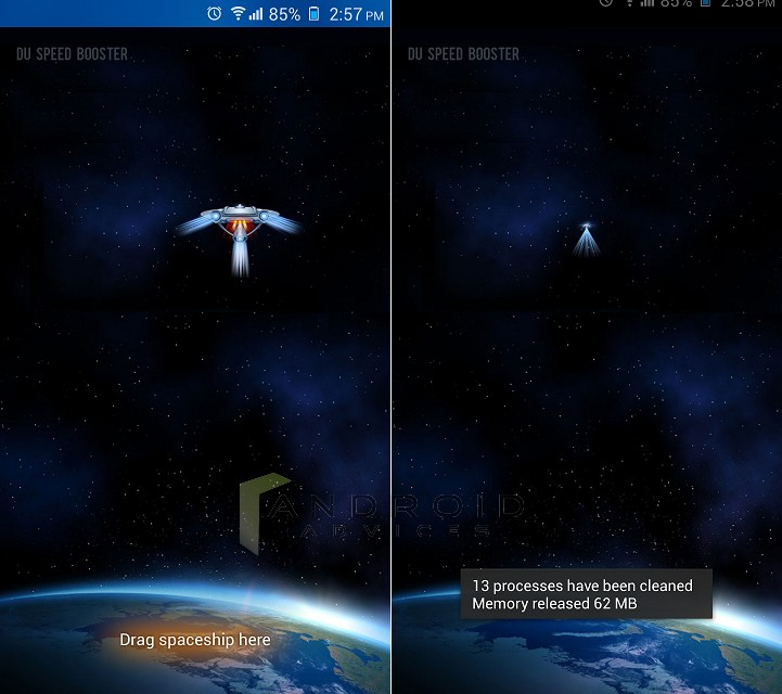 DU Speed Booster App Spaceship