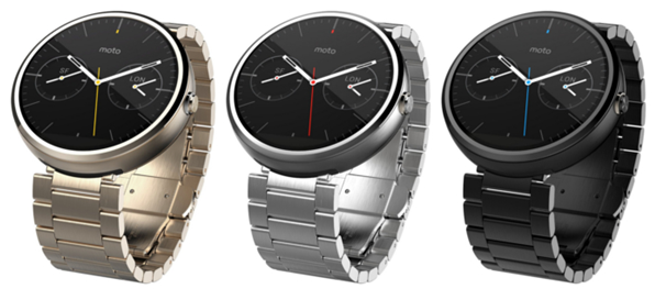 Moto 360 with metallic bands