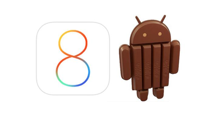 iOS and Android KitKat