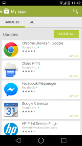 Speed up Android device - Update applications 2