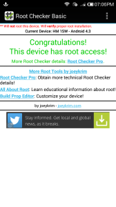 Redmi 1S is successfully rooted