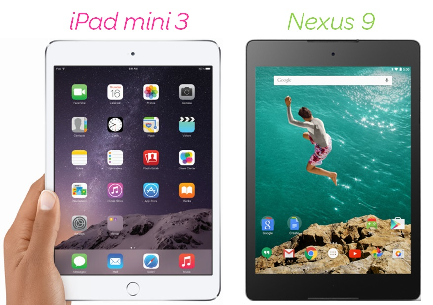 iPad mini 3 Nexus 9
