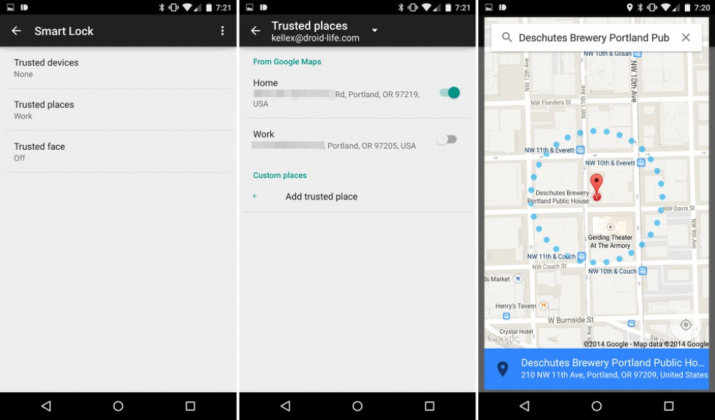 lollipop updated trusted places