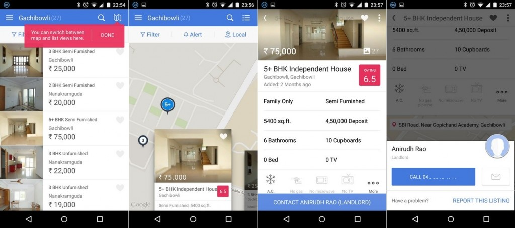 Housing Android App Listing