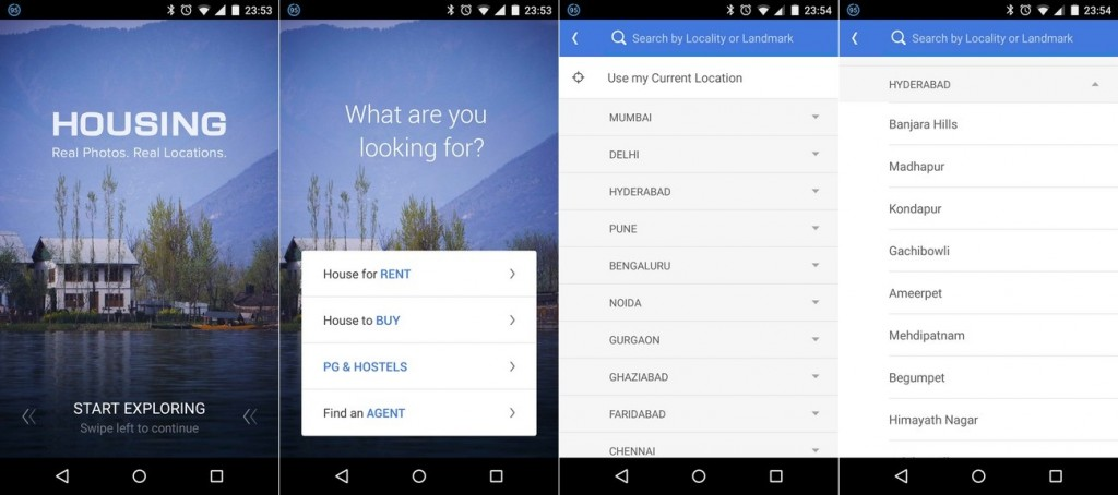 Housing Android App Search
