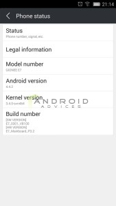 ionee Elife E7 KitKat update 5