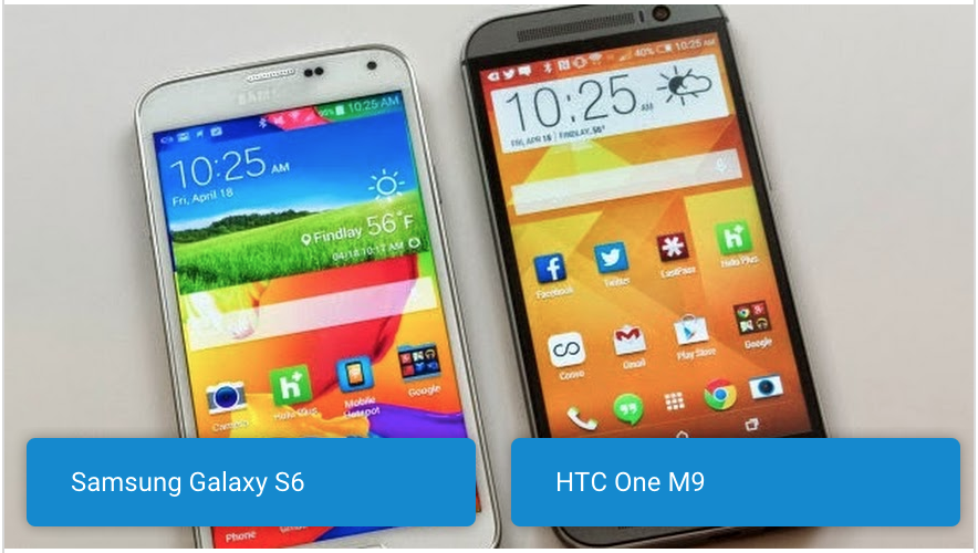 Samsung Galaxy S6 vs HTC One M9