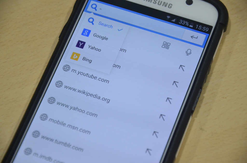 Baidu Browser Android Search