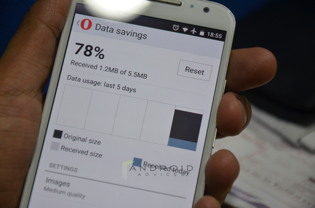 Opera Mini for Android Data Savings