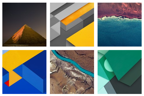 Stock Wallpapers of Android 6.0 Marshmallow