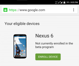 Enrollment of devices