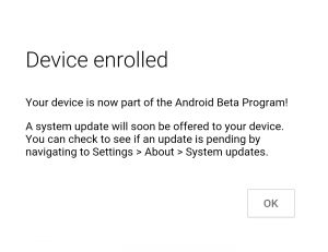 device enrolled