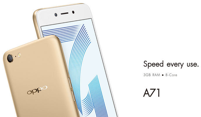 OPPO A71 Smartphone with Android 7 1 Nougat Launched in